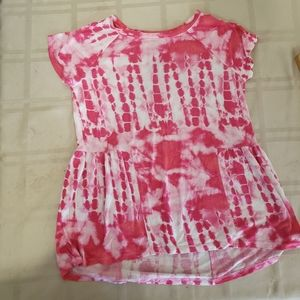 3/$18 Pink and White Tee